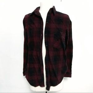 Wildfred free aritzia burgundy black Plaid
